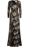 Ports Floral Sequin Gown - Lyst