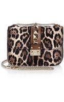 Valentino Leopard Lock Calf Hair Shoulder Bag - Lyst