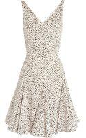 Oscar De La Renta For The Outnet Printed Cotton Blend Dress - Lyst