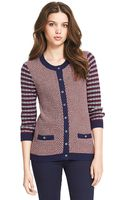 Tommy Hilfiger Mixed Knit Cardigan - Lyst