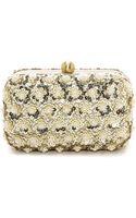 Santi Imitation Pearl Studded Box Clutch - Gold - Lyst