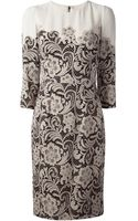 Dolce & Gabbana Lace Print Dress - Lyst