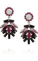 Dannijo Valerie Oxidized Silverplated Swarovski Crystal Earrings - Lyst