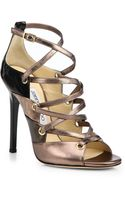 Jimmy Choo Linger Strappy Patent Leather Sandals - Lyst