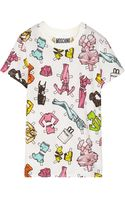 Moschino Printed Cotton-jersey T-shirt - Lyst