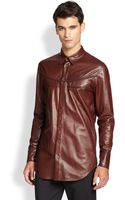 3.1 Phillip Lim Leather Western Shirt - Lyst