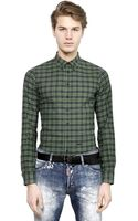DSquared2 Checked Cotton Flannel Shirt - Lyst