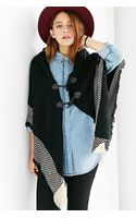 Urban Outfitters Pattern Border Open Poncho - Lyst