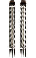 Ben Amun Two Toned Spike Earrings - Lyst