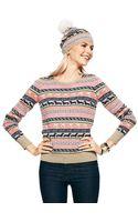 C. Wonder Crewneck Love Jacquard Sweater - Lyst
