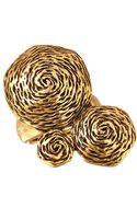 Oscar de la Renta Goldtone Swirl Ring - Lyst
