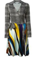 Diane Von Furstenberg Wrap Belted Dress - Lyst
