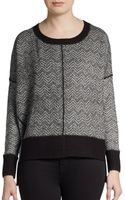French Connection Chevron Jacquard Knit Sweater - Lyst
