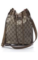 Gucci Pre-owned Webbed Vintage Bucket Tote Bag - Lyst
