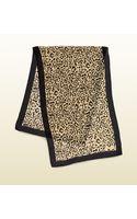 Gucci Leopard Print Silk Satin Voile Stole - Lyst