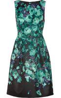 Lela Rose Floralprint Satin Dress - Lyst