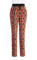 Calvin Klein Patterned Tapered Pants - Lyst