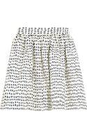 Chinti & Parker Printed Cotton Mini Skirt - Lyst