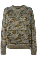 Isabel Marant Metallic Sheen Camouflage Sweatshirt - Lyst