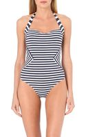 Jets by Jessika Allen Precision Halter Neck Swimsuit - Lyst