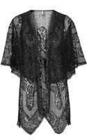 Topshop Ruffle Soft Lace Kimono - Lyst