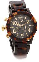 Nixon 4220 Chrono Watch  All Blacktortoise - Lyst