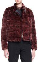 Brunello Cucinelli Monilicollar Striped Mink Fur Jacket - Lyst