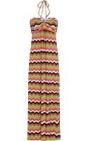 T-bags Printed Stretchsatin Jersey Maxi Dress - Lyst