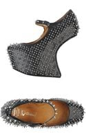 Jeffrey Campbell Spike Embellished Wedge Shoes - Lyst