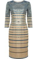 Alice By Temperley 34 Sleeve Ling Striped Dress - Lyst