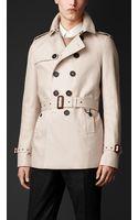 Burberry Cotton Gabardine Trench Coat - Lyst