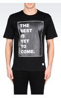 Emporio Armani Printed Cotton Jersey Shirt - Lyst