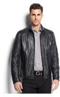 Hugo Boss Boss Niksons Leather Jacket - Lyst