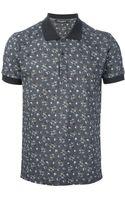 Dolce & Gabbana Floral Print Polo Shirt - Lyst