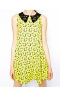 Ax Paris Swing Dress with Cutwork Collar - Lyst