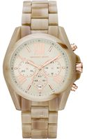 Michael Kors Womens Chronograph Bradshaw Sand Acetate Bracelet Watch 43mm - Lyst