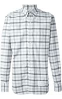 Thom Browne Checked Oxford Shirt - Lyst