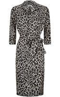 Paule Ka Leopard Print Shirt Dress - Lyst
