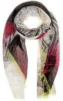 Etro Printed Cashmere Scarf - Lyst