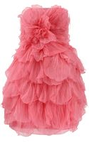 Oscar de la Renta Strapless Tulle Petal Dress - Lyst