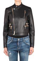 DSquared2 Leather Biker Jacket - Lyst