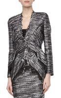 Donna Karan New York Tweed Jacket with Fringe Detail - Lyst