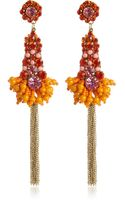 River Island Orange Beaded Drop Earrings - Lyst