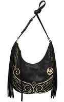 MICHAEL Michael Kors Rhea Leather Studded Slouchy Shoulder Bag - Lyst
