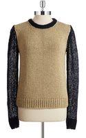 Michael by Michael Kors Contrast Metallic Sweater - Lyst