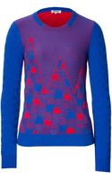 Kenzo Cashmere Jacquard Pullover - Lyst
