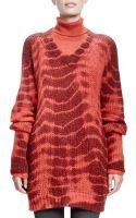 Stella McCartney Long-sleeve V-neck Tie-dye Sweater - Lyst