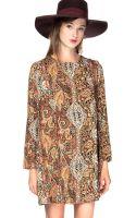 Pixie Market Folk Print Shift Dress - Lyst
