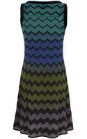 M Missoni Chevron Flare Dress - Lyst