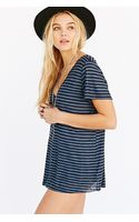 Project Social T Textured-knit V-neck Tee - Lyst